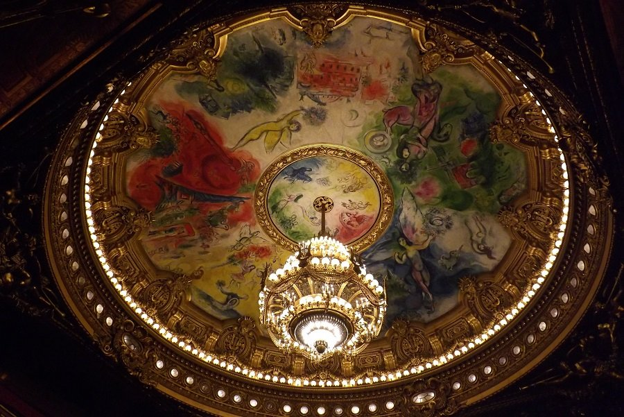coupole peinture salle opéra